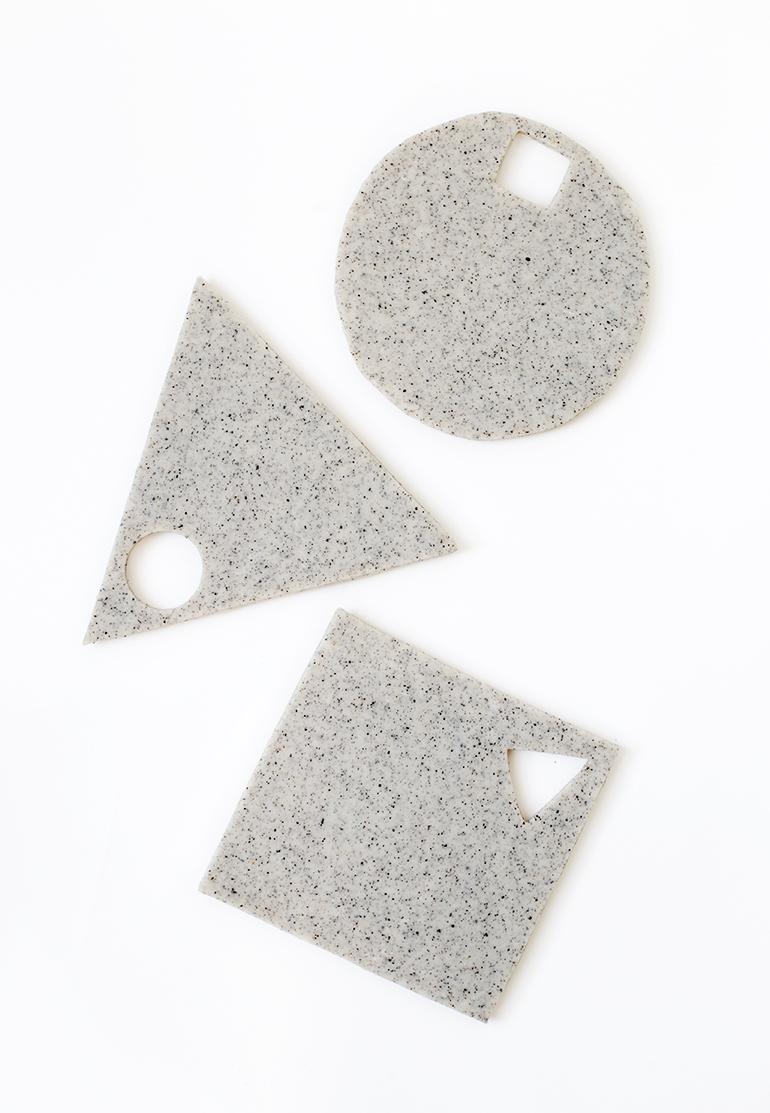 DIY Geometric Clay Trivet @themerrythought