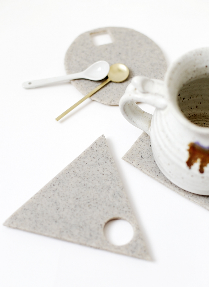DIY Geometric Clay Trivet @themerrythought