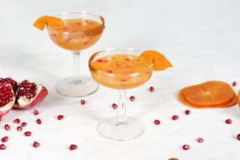 Persimmon Pomegranate Mocktail @themerrythought
