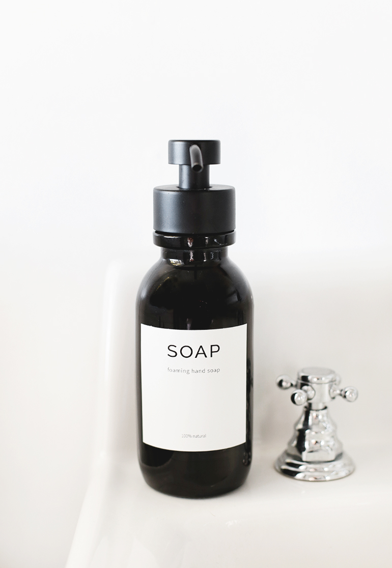 DIY Foaming Hand Soap @themerrythought