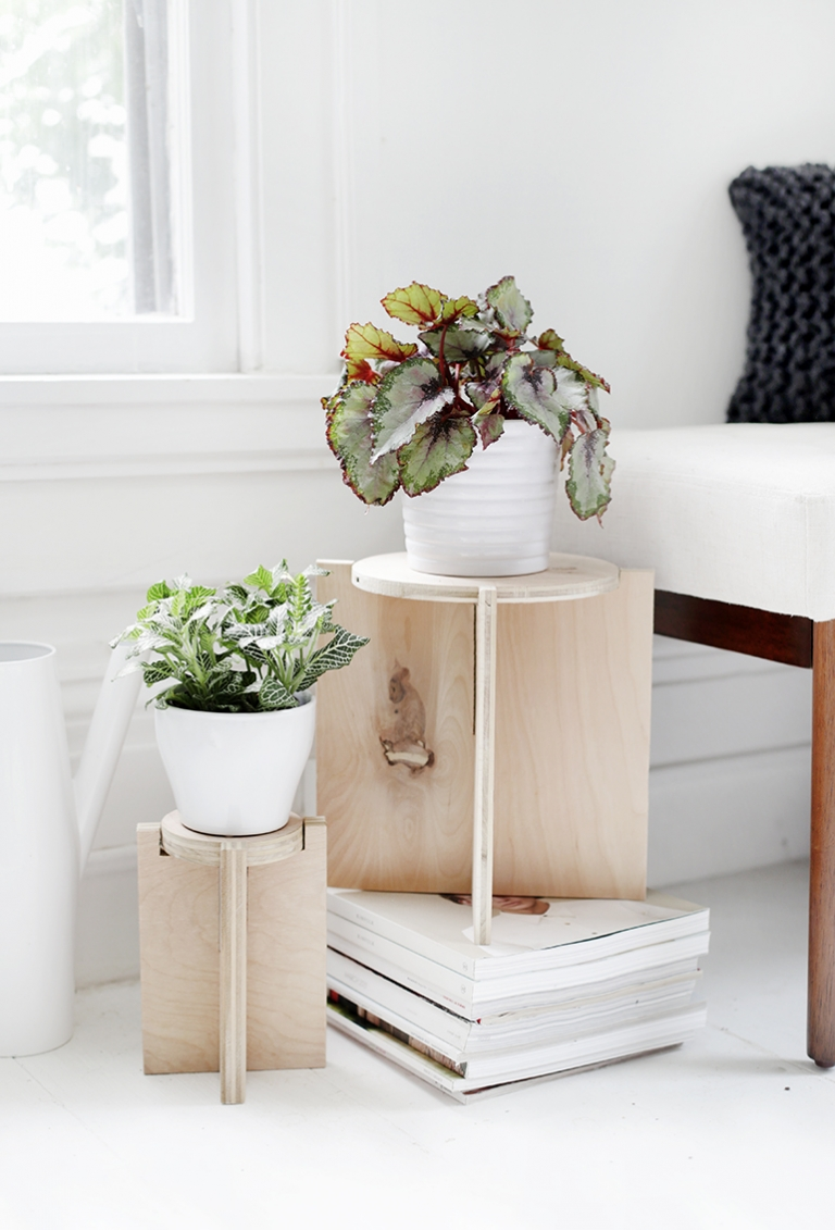Diy Wooden Plant Stand The Merrythought