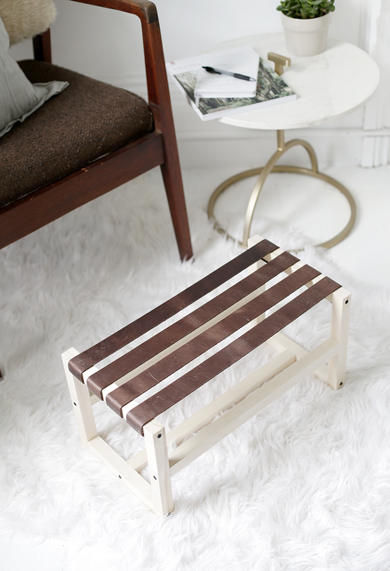 Diy Leather Footstool The Merrythought