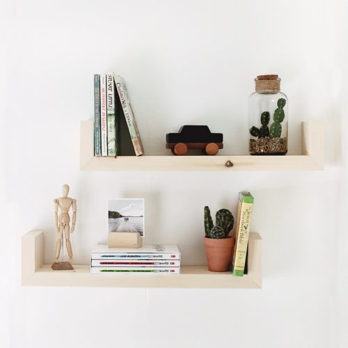 DIY Wood Wall Shelves @themerrythought