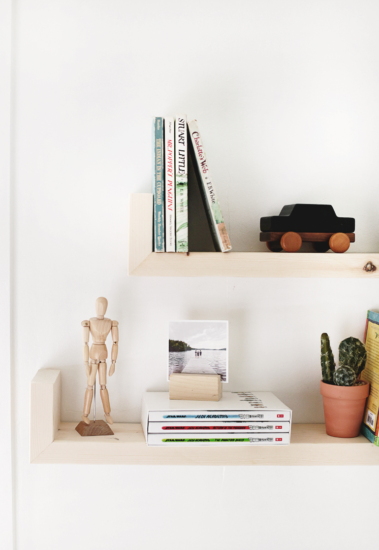 DIY Wood Wall Shelves - The Merrythought