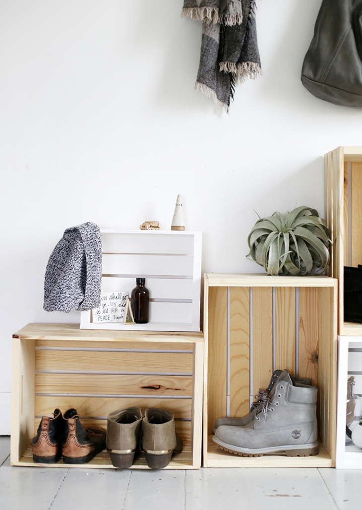 Crate Storage | Shoe Organization @themerrythought