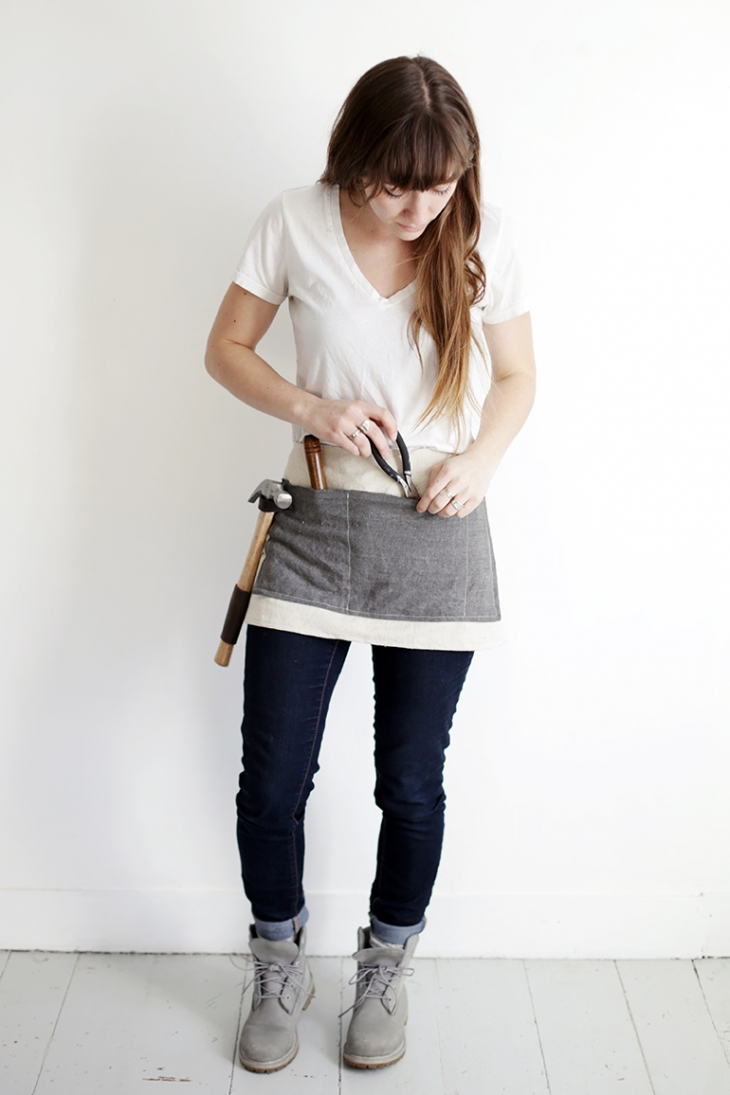 DIY Waxed Canvas Tool Apron @themerrythought