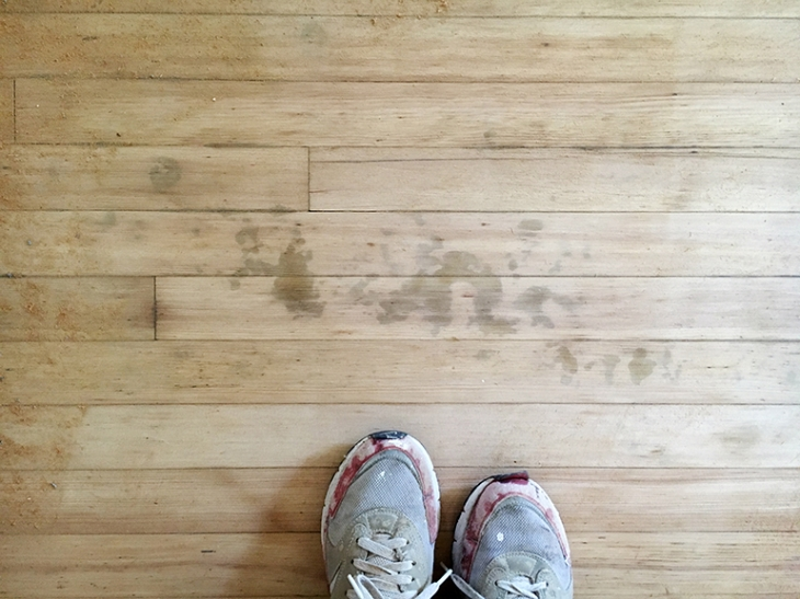 How To Remove Dark Spots From Hardwood Floors @themerrythought