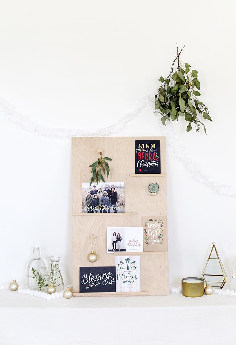 DIY Christmas Card Display @themerrythought