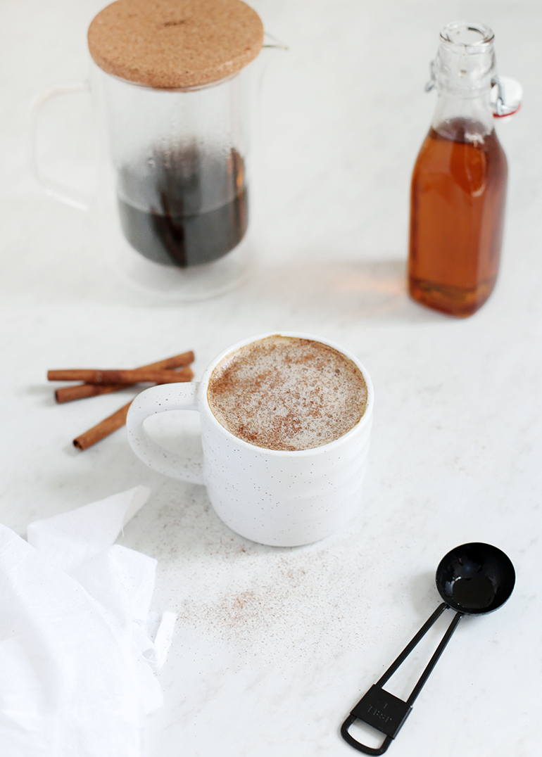 Simple Maple Latte + Brewing a Better Cup of Coffee @themerrythought