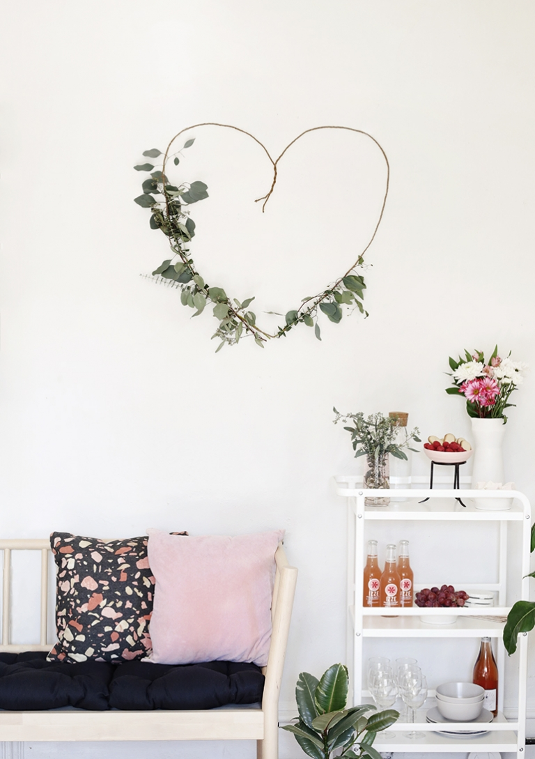 DIY Greenery Heart Backdrop