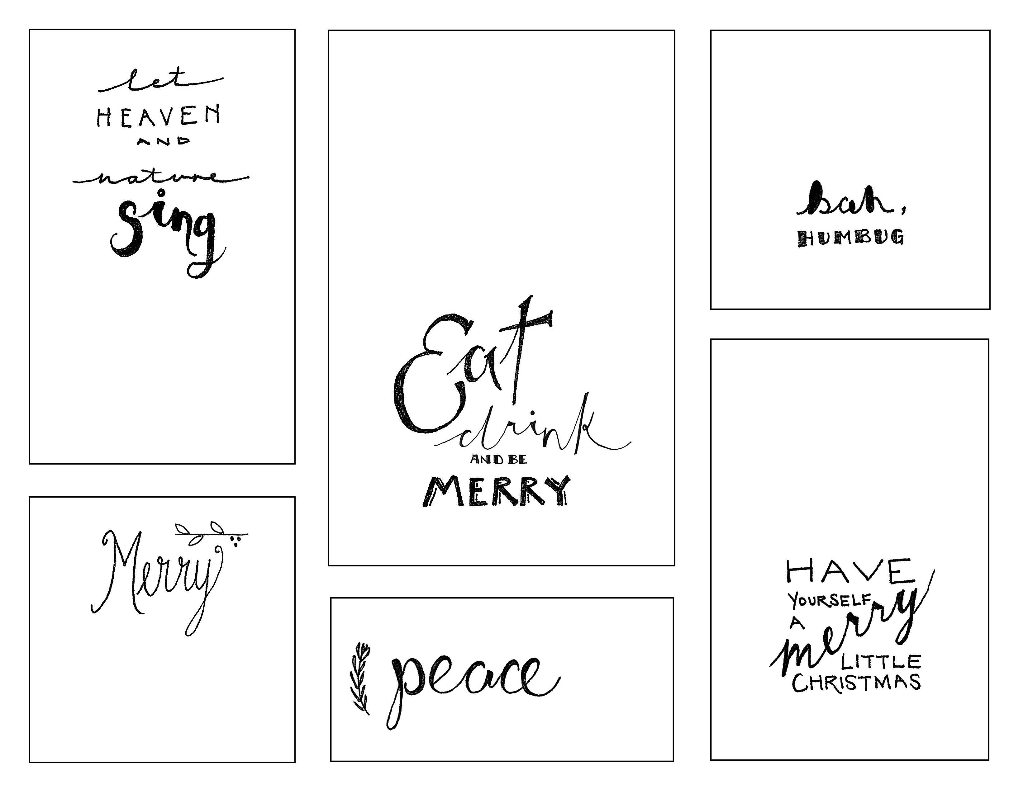 Printable Holiday Stickers » The Merrythought