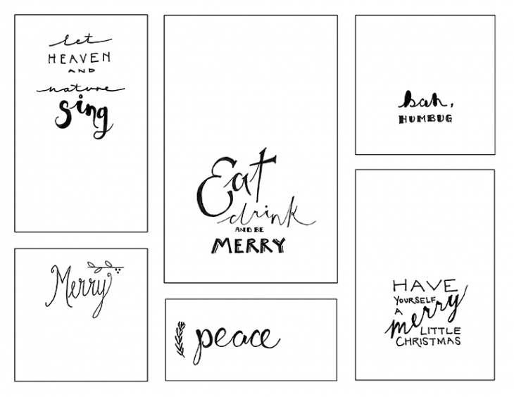 Printable Holiday Stickers @themerrythought