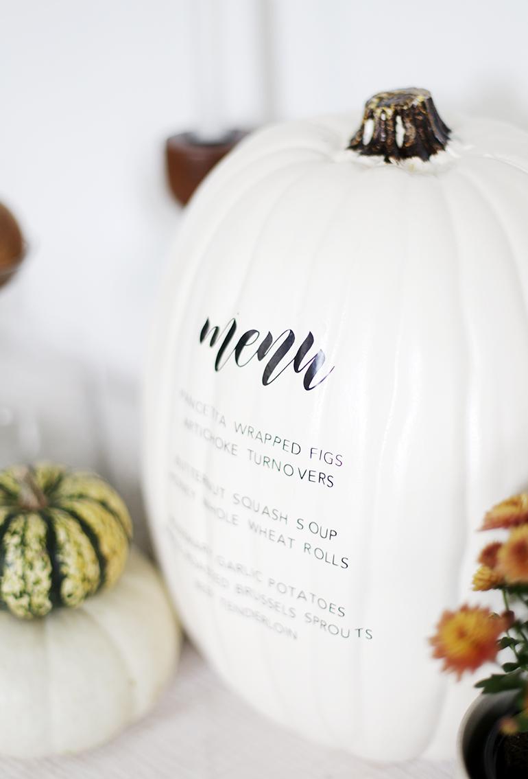 DIY Menu Pumpkin @themerrythought