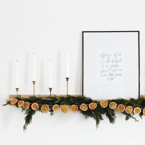 DIY Dried Orange Garland @themerrythought