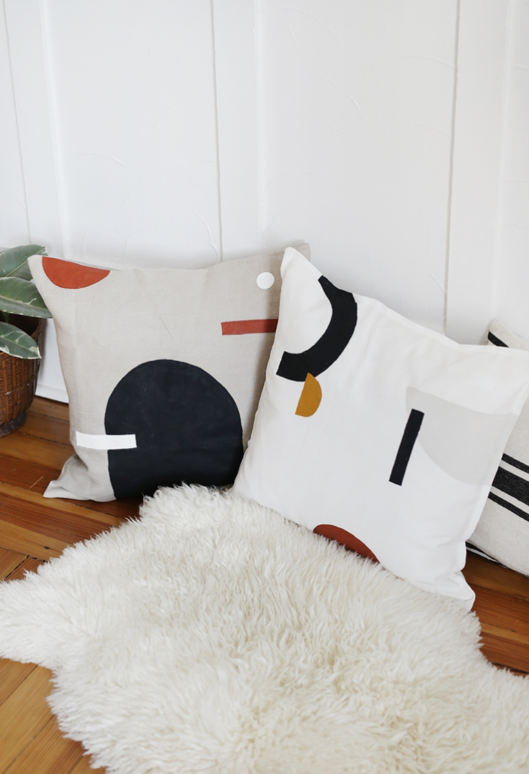 How To Make DIY Painted Pillows