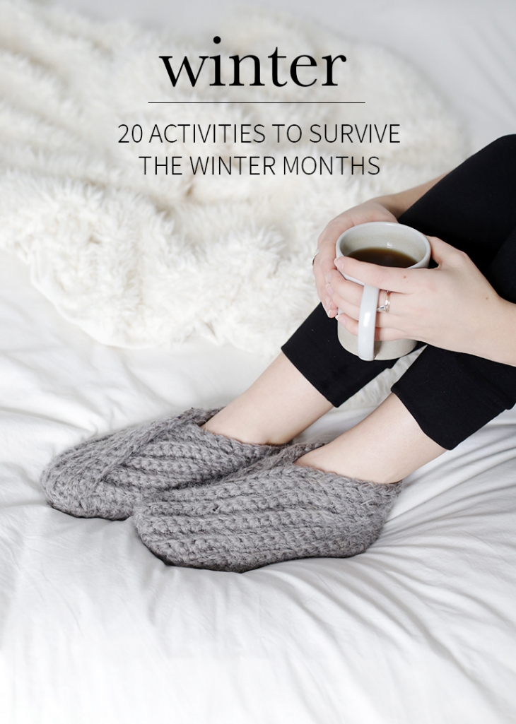 20 Activities to Survive the Winter Months @themerrythought