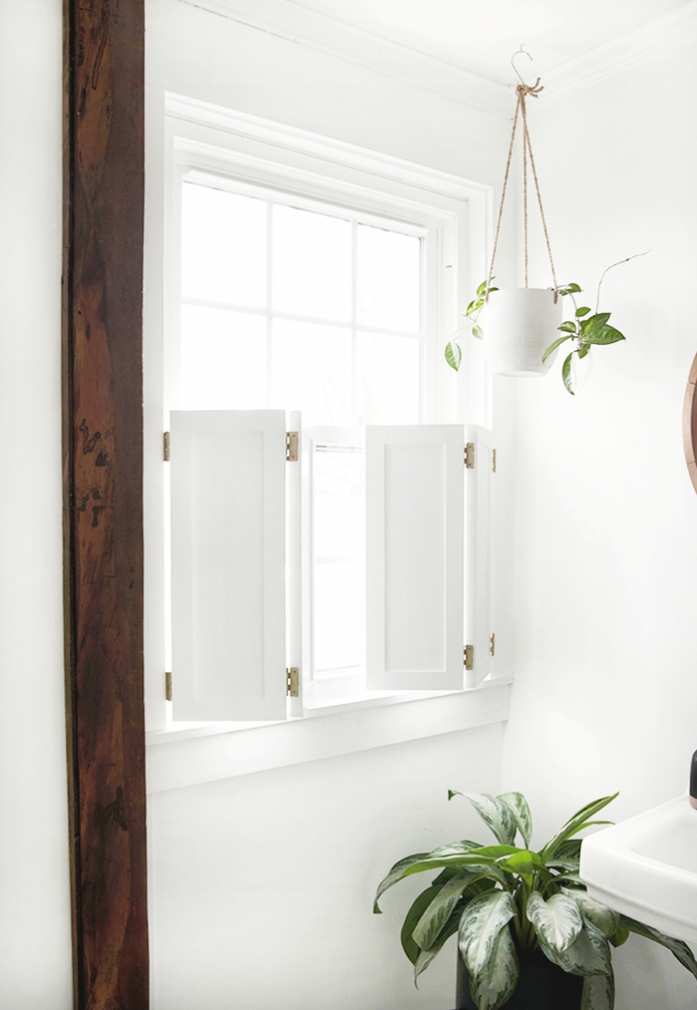 DIY Interior Window Shutters @themerrythought