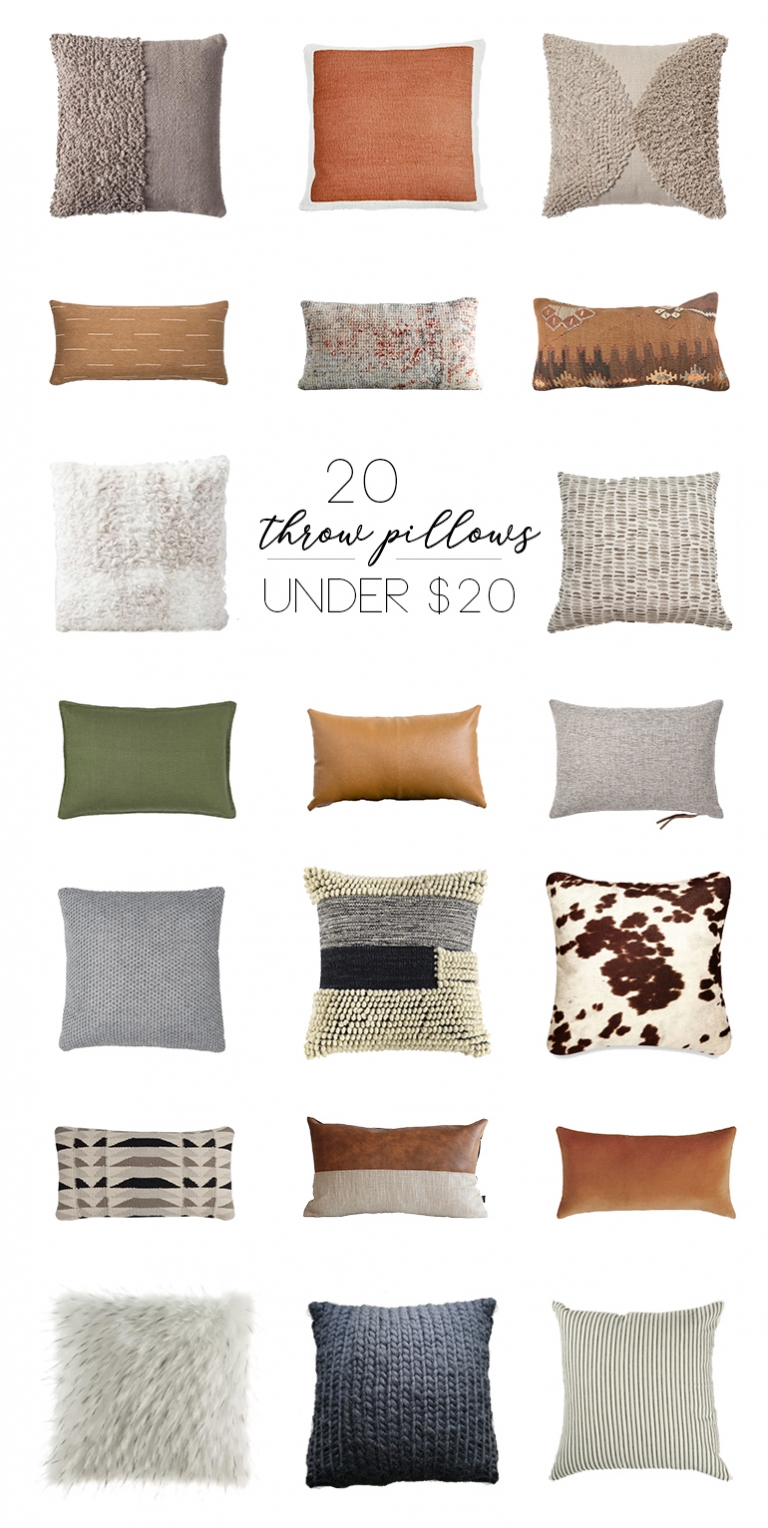 20 Pillows Under $20 @themerrythought