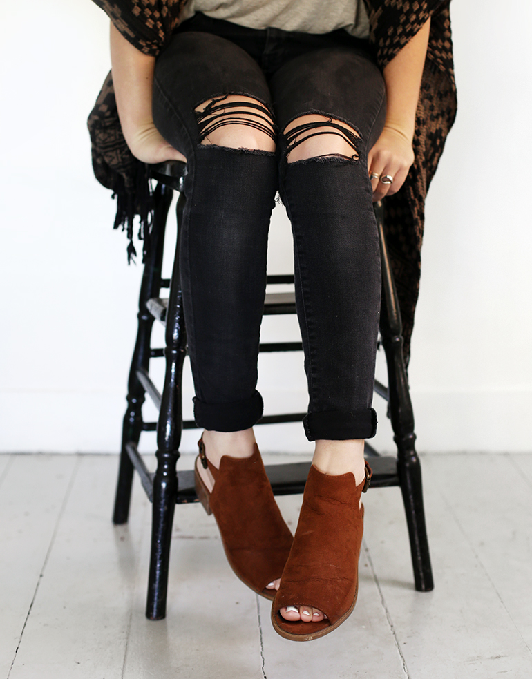 DIY Distressed Jeans - The Merrythought