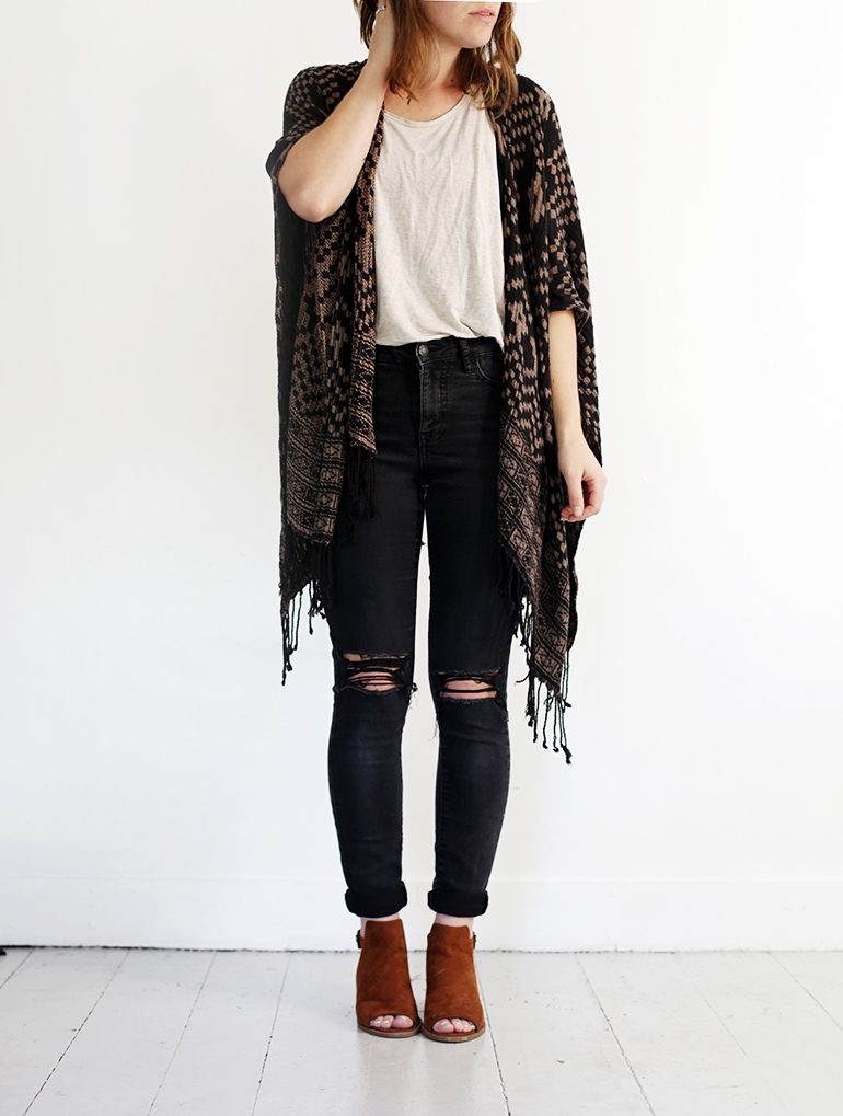 DIY Distressed Jean @themerrythought