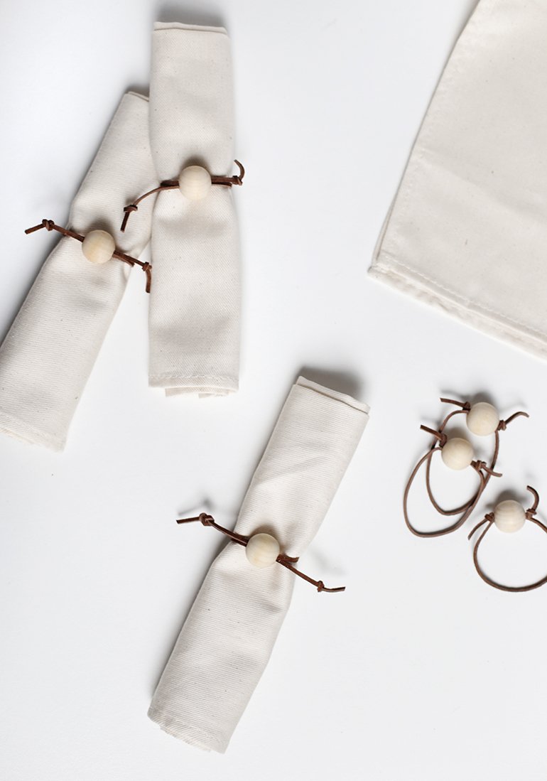 Diy Leather Napkin Rings The Merrythought