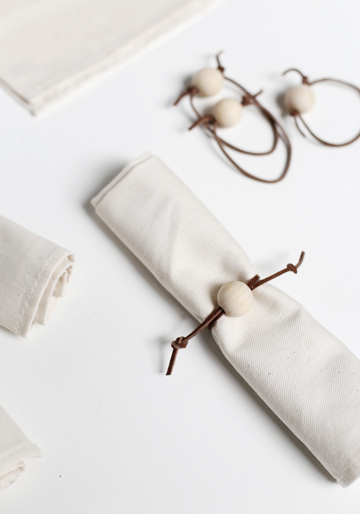 DIY Leather Napkin Rings @themerrythought