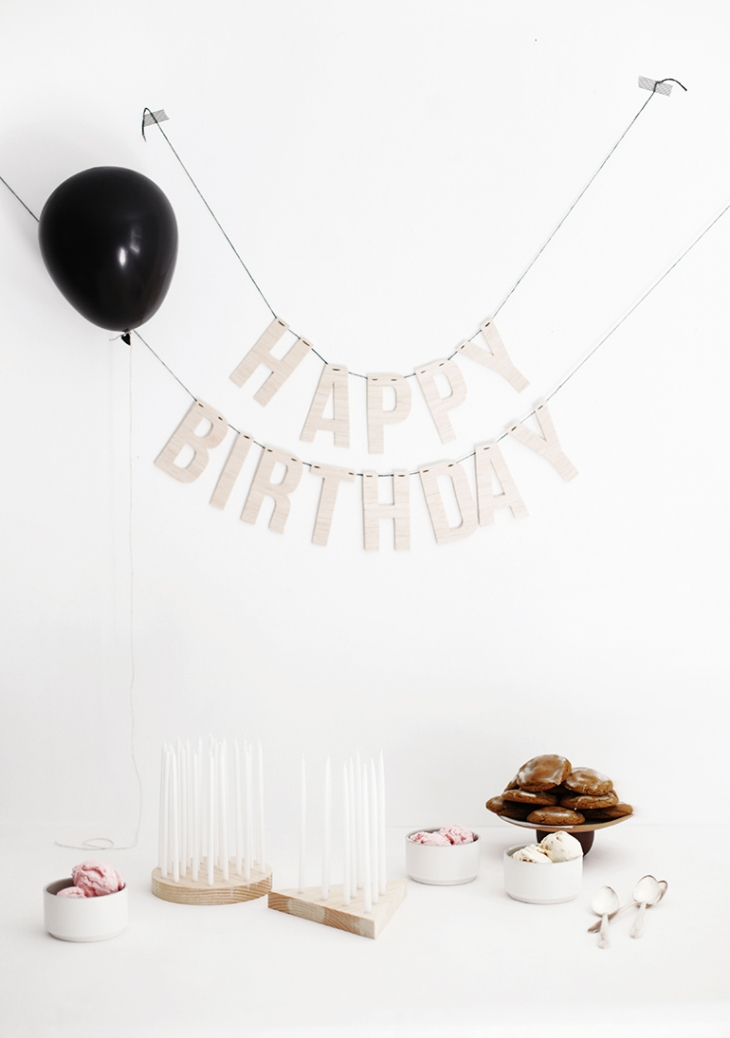 DIY Birthday Candle Display @themerrythought