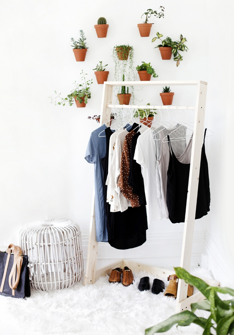 Diy Wooden Clothing Rack The Merrythought