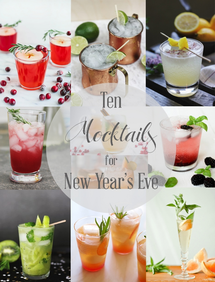 10 Mocktails for New Year