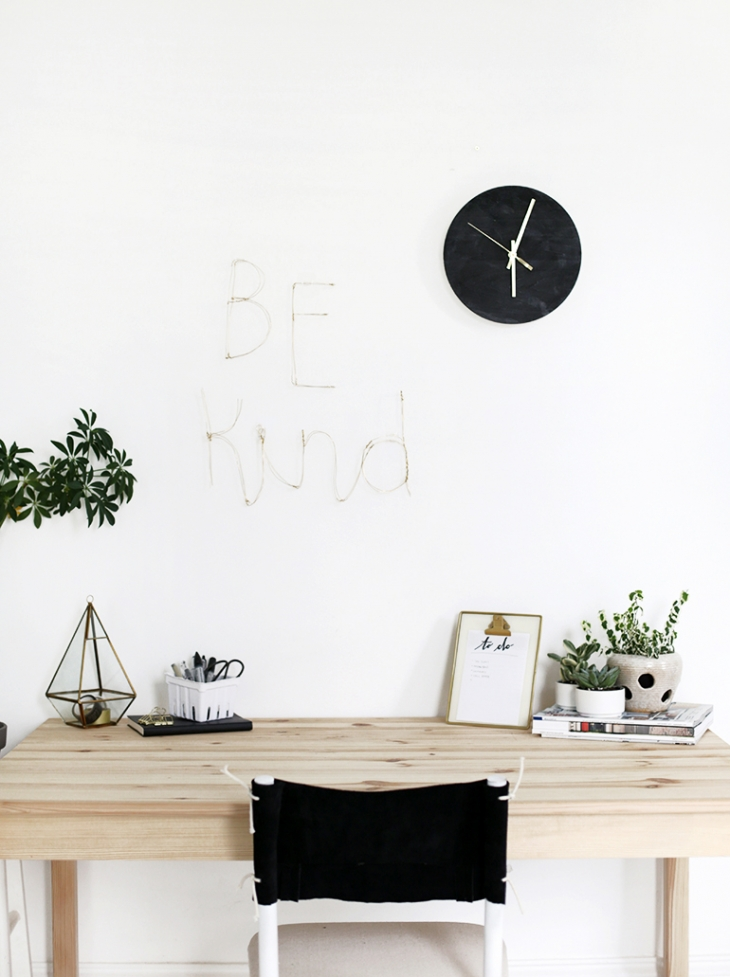 DIY Wire Letter Wall Art @themerrythought
