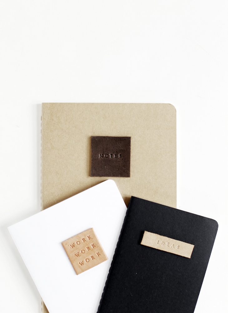 DIY Leather Stamp Notebook @themerrythought