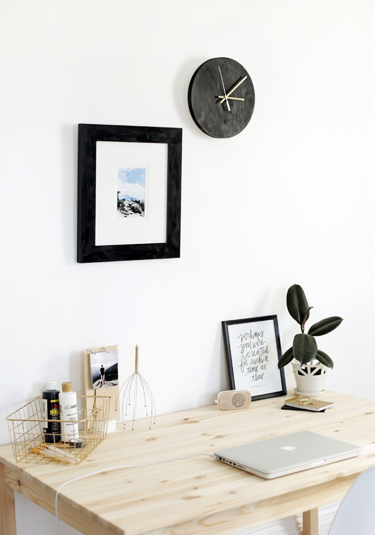 DIY Reversible Minimal Clock @themerrythought