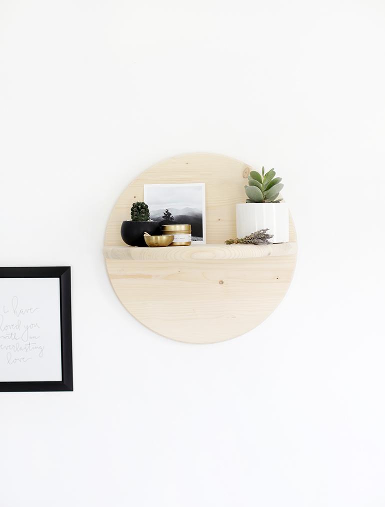 DIY Circle Shelf