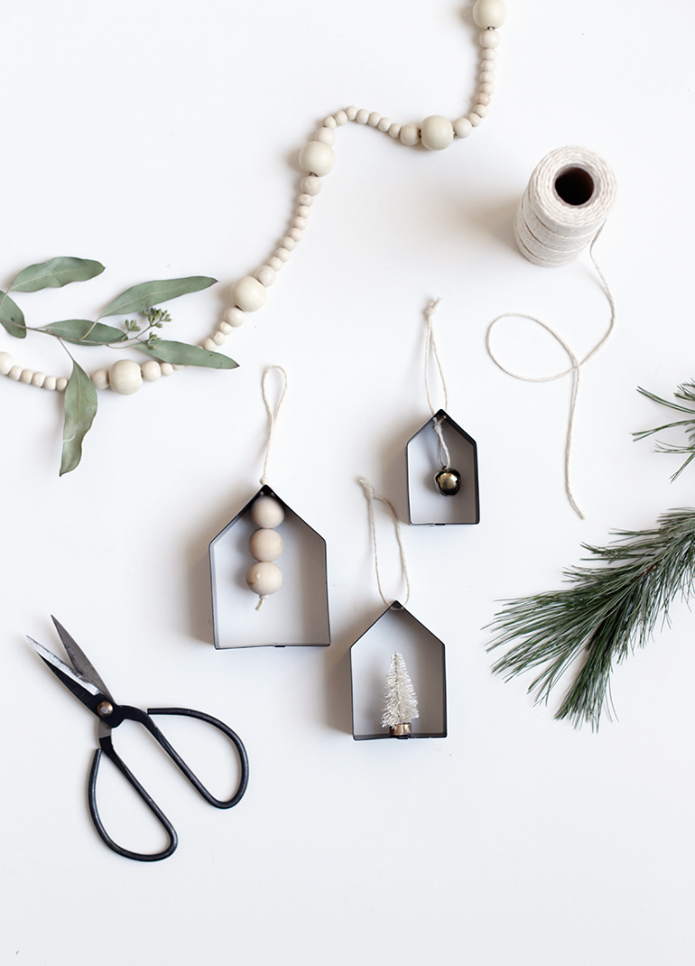 DIY House Cookie Cutter Ornaments