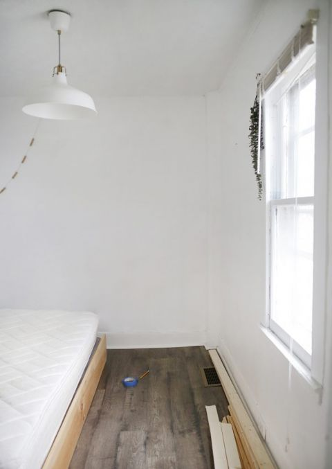 before room photos with plain white walls