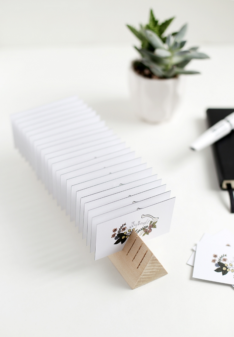 DIY Wooden Business Card Holder - The Merrythought