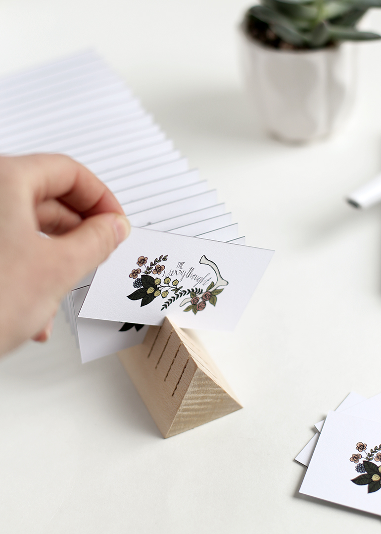 Diy Wooden Business Card Holder The Merrythought