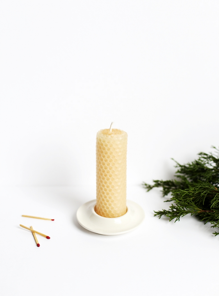 DIY Rolled Beeswax Candles @themerrythought