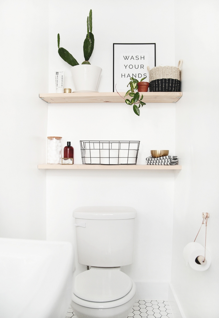 DIY Bathroom Shelves & DIY Bathroom Shelves - The Merrythought