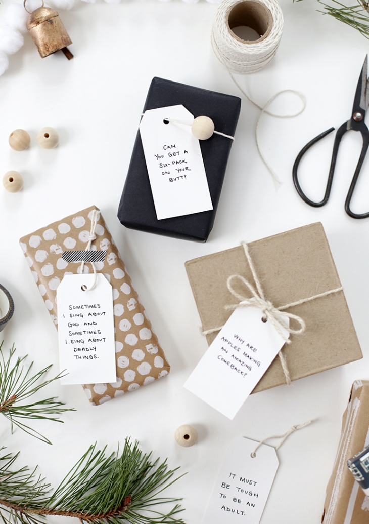 DIY Quote Gift Tags @themerrythought