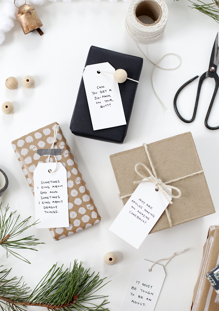 DIY Quote Gift Tags - The Merrythought
