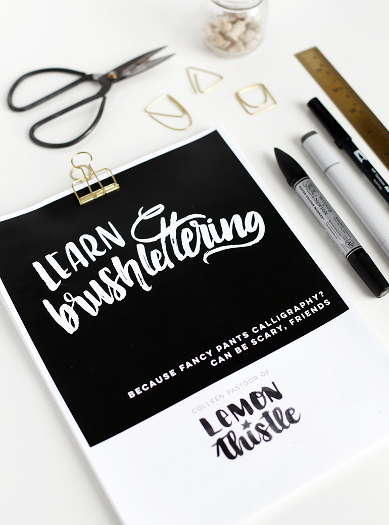 Learn Brushlettering @themerrythought