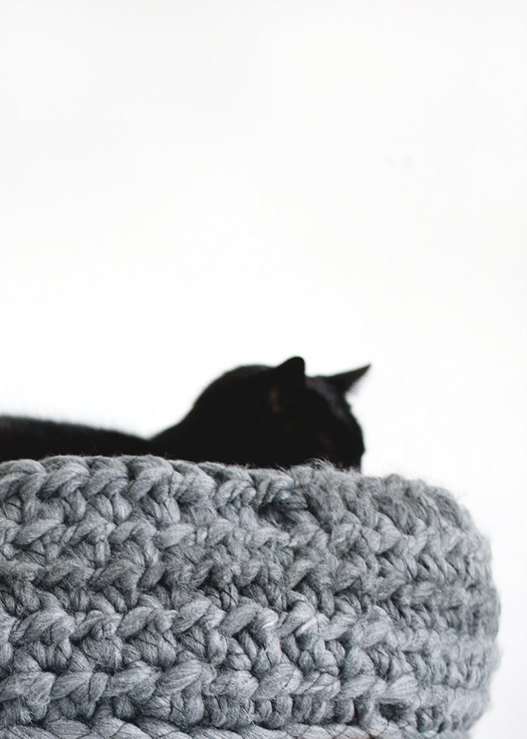 Cute & Cozy Cat Basket Crochet Pattern | 1077x768