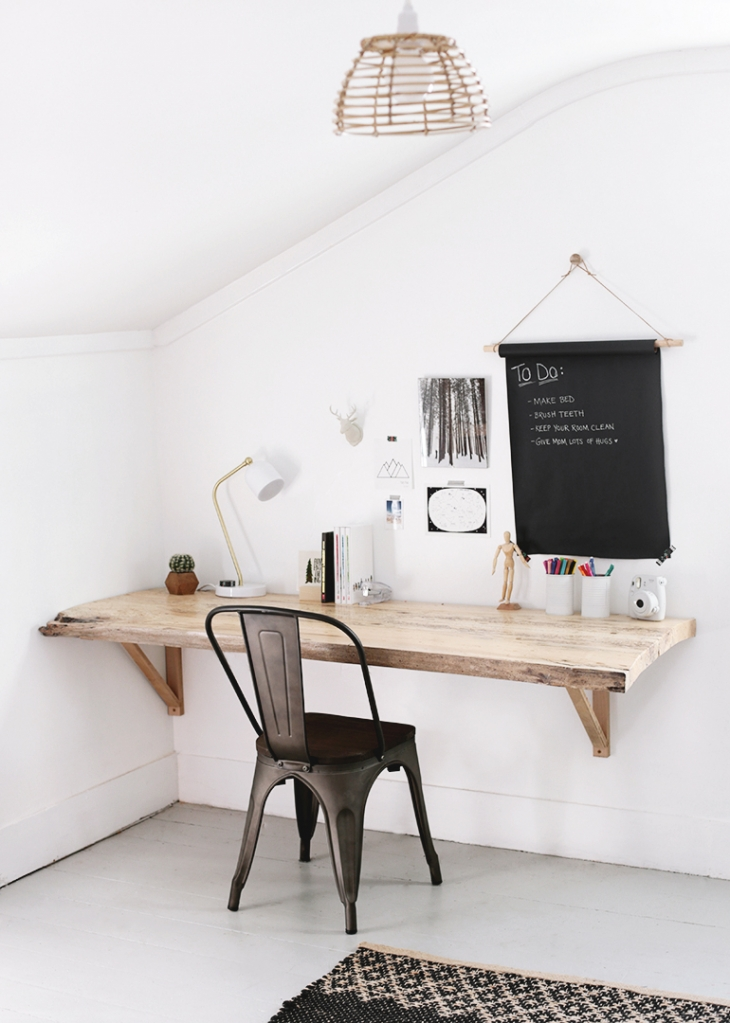DIY Live Edge Wood Desk @themerrythought