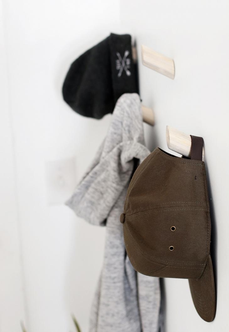 DIY Dowel Wall Hooks
