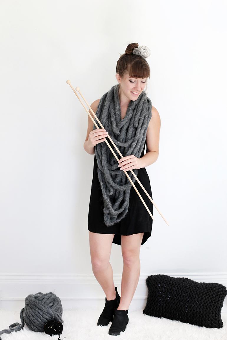 DIY Yarn & Knitting Needles Costume @themerrythought