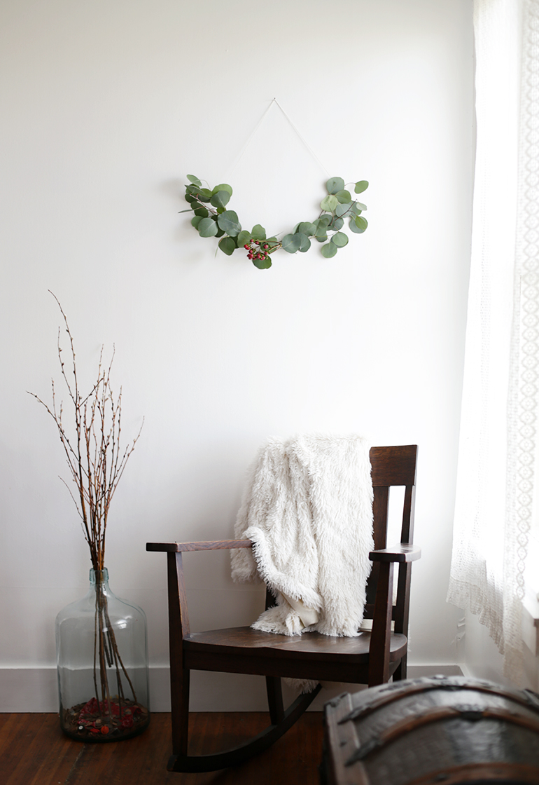 Diy minimal wreath the merrythought for 500 decoration details minimalism