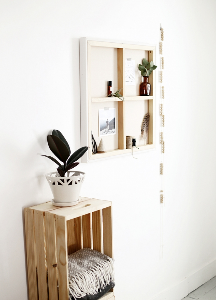 DIY Canvas Shelf @themerrythought