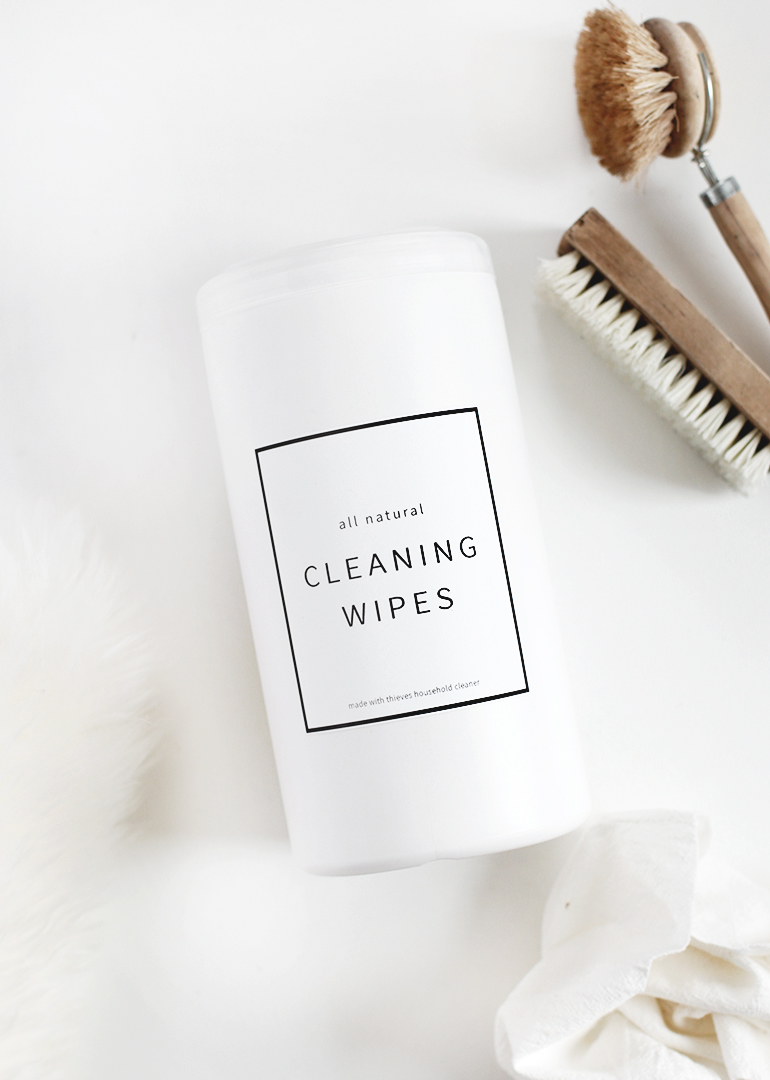 DIY Natural Cleaning Wipes @themerrythought