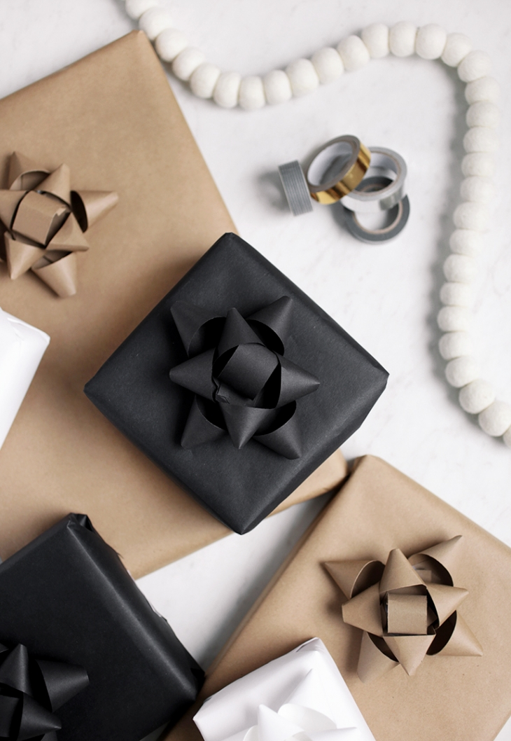 DIY Paper Gift Bows @themerrythought
